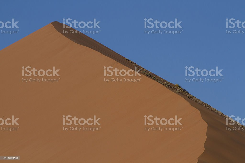 The top of the sand dune, Sossusvlei stock photo