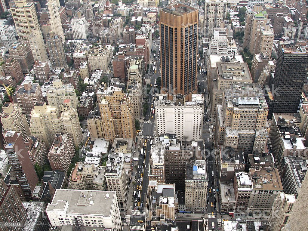 The top view on a megacity royalty-free stock photo
