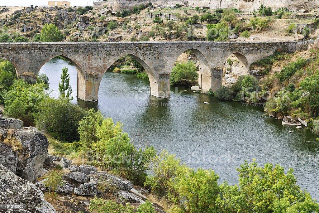 The Tormes river, Castilla y Leon, Spain stock photo