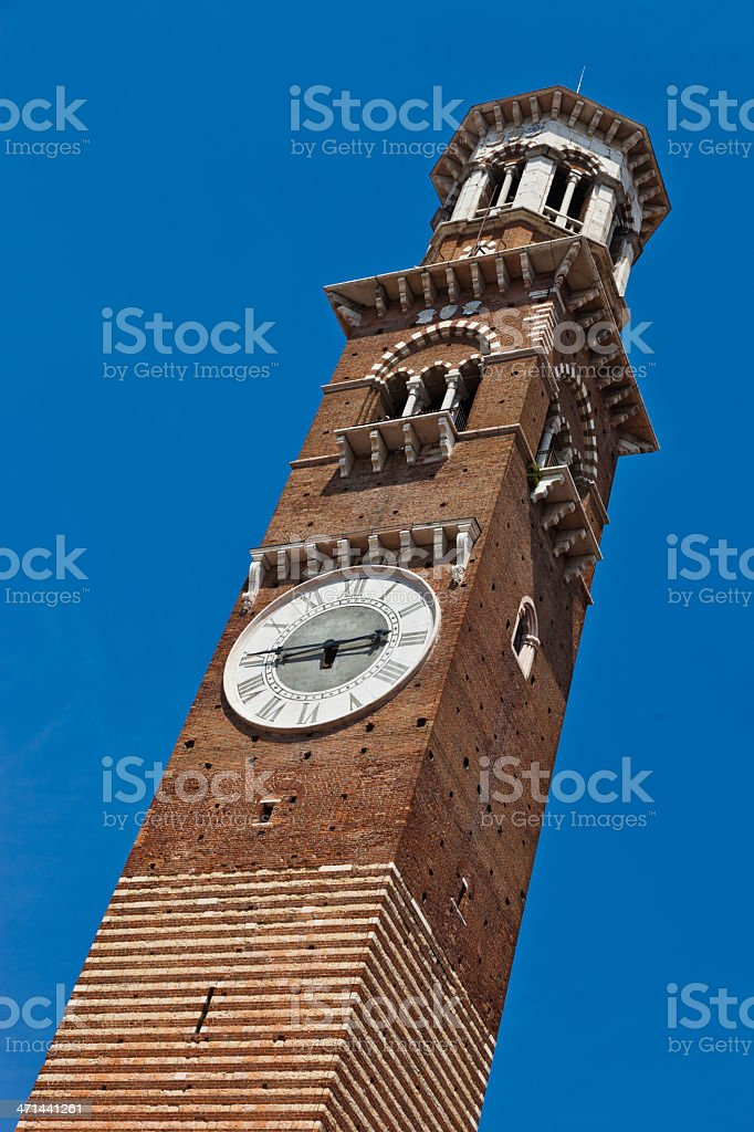The Torre dei Lamberti stock photo