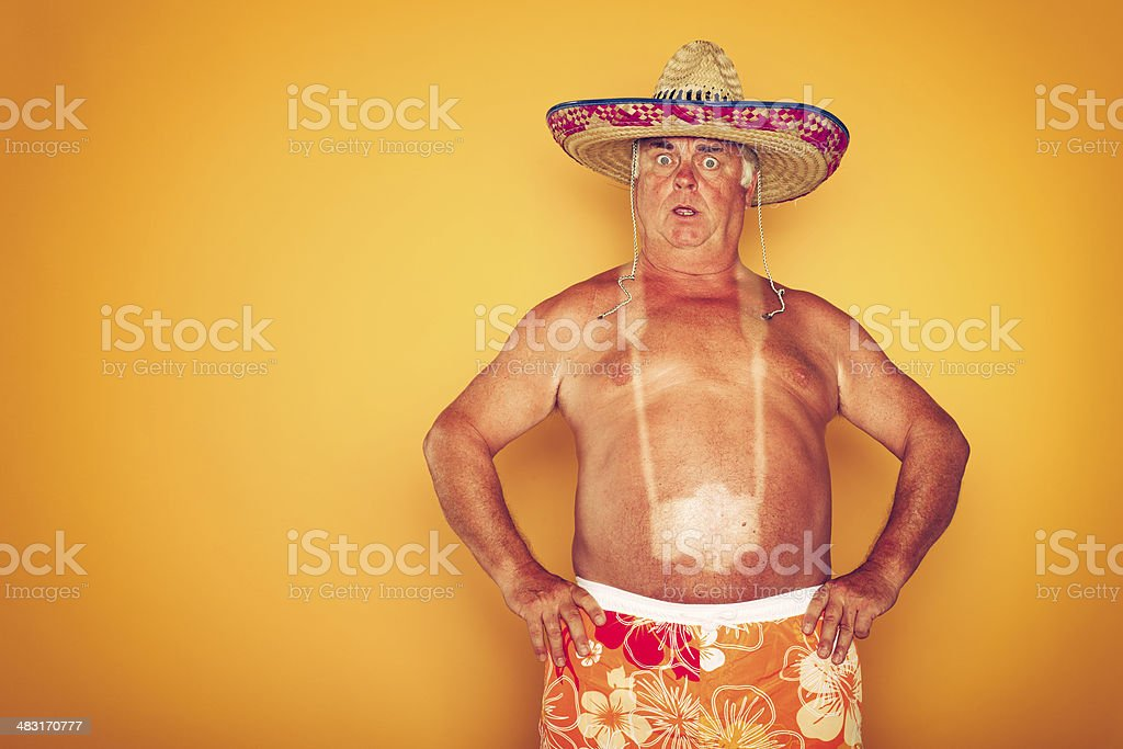 The Tourist - Cool Camera Sombrero Humor Hawaiian stock photo