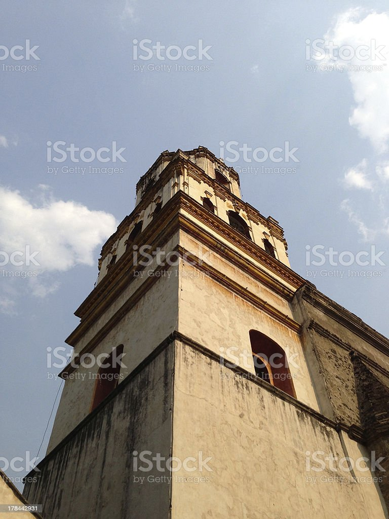 The tower of a church a great view stock photo