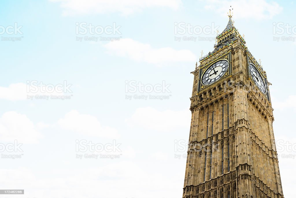 The tower of Big Ben in London royalty-free stock photo