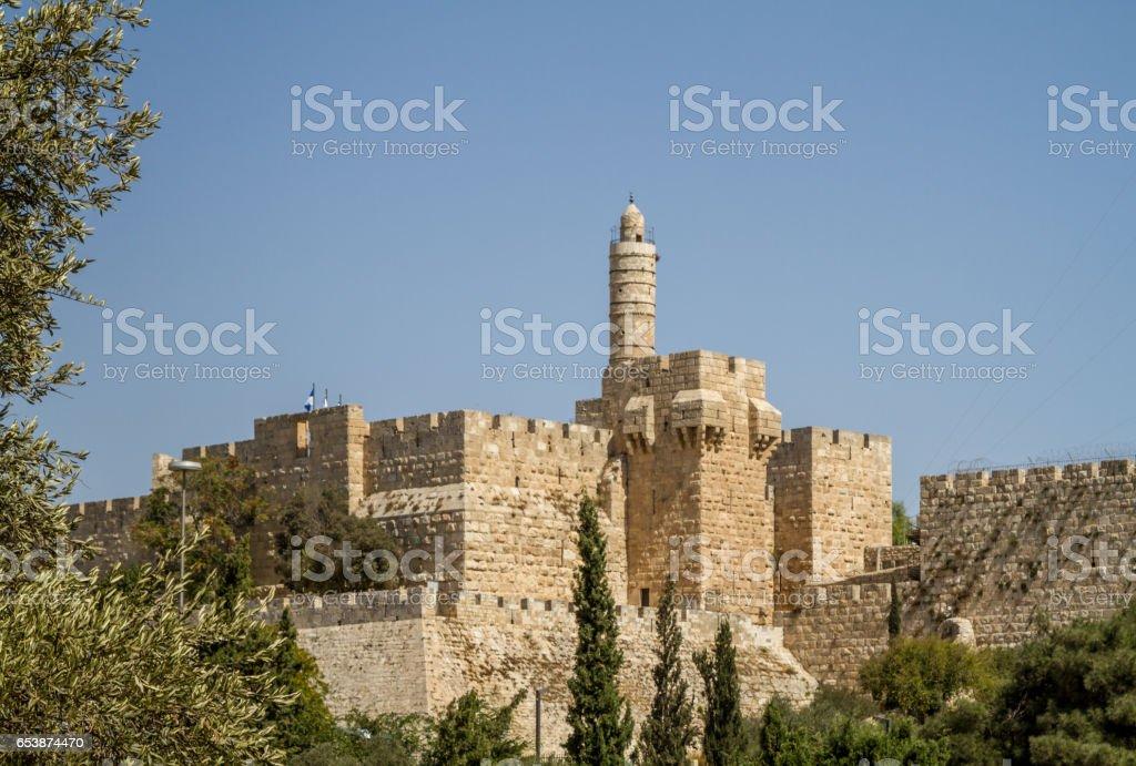 The Tower of David, Jerusalem Citadel, Israel stock photo