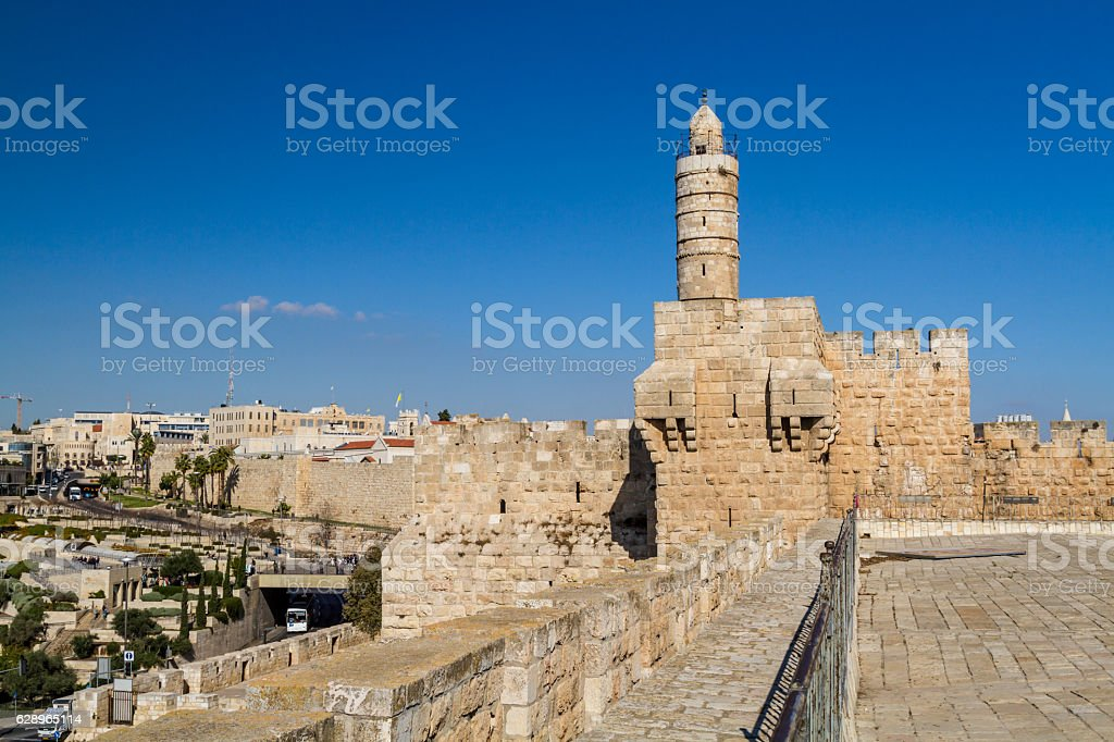 The Tower of David, Jerusalem Citadel stock photo