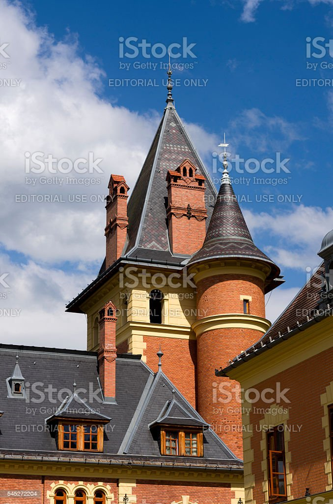 The tower of Medieval castle stock photo