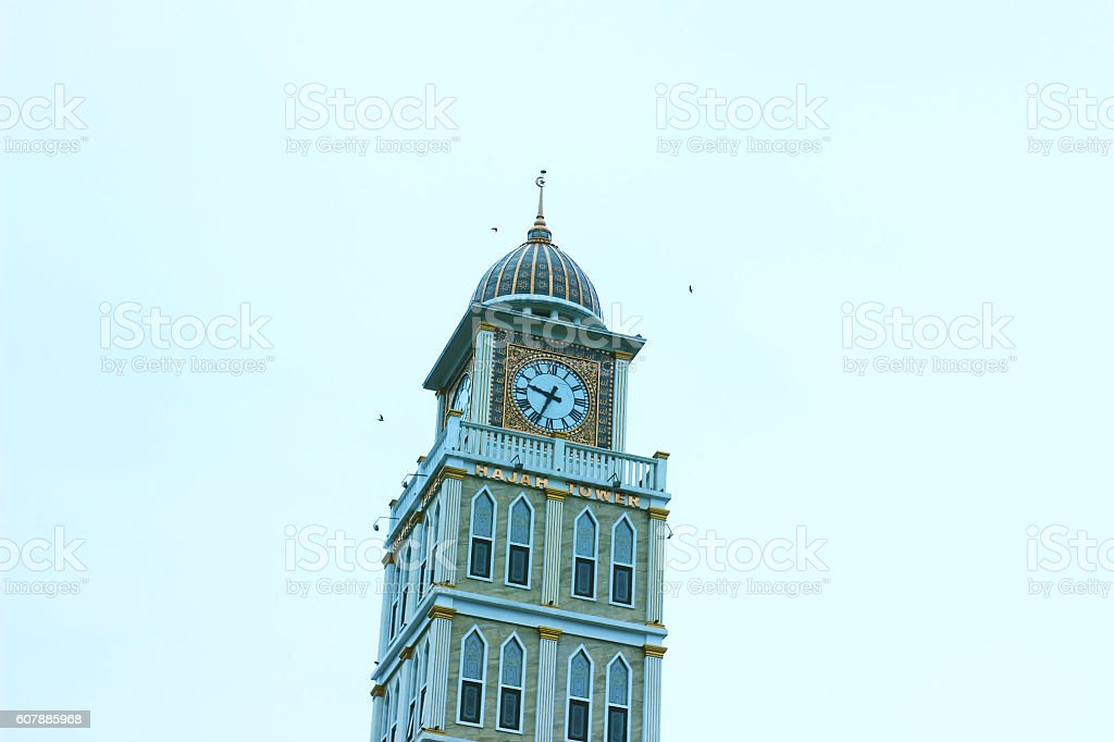 The Tower of Mosque stock photo