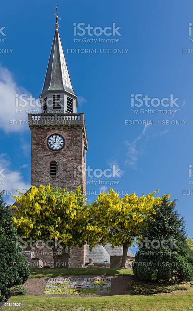 The tower of Old High Church in Inverness. stock photo