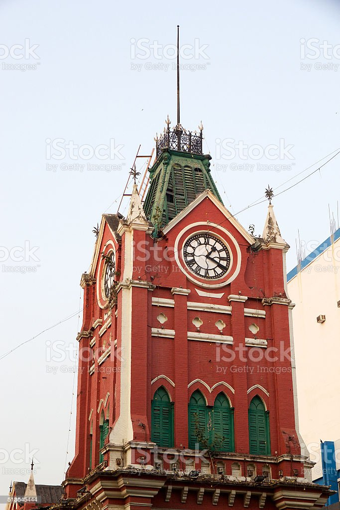 The tower of the New Market, Kolkata, India stock photo