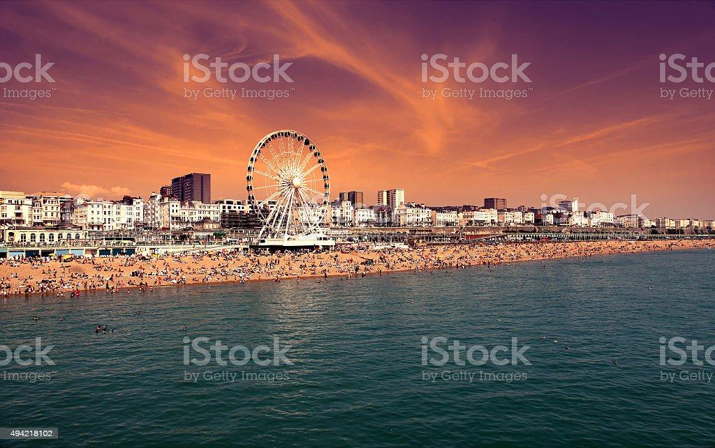 The towering Brighton Wheel stock photo