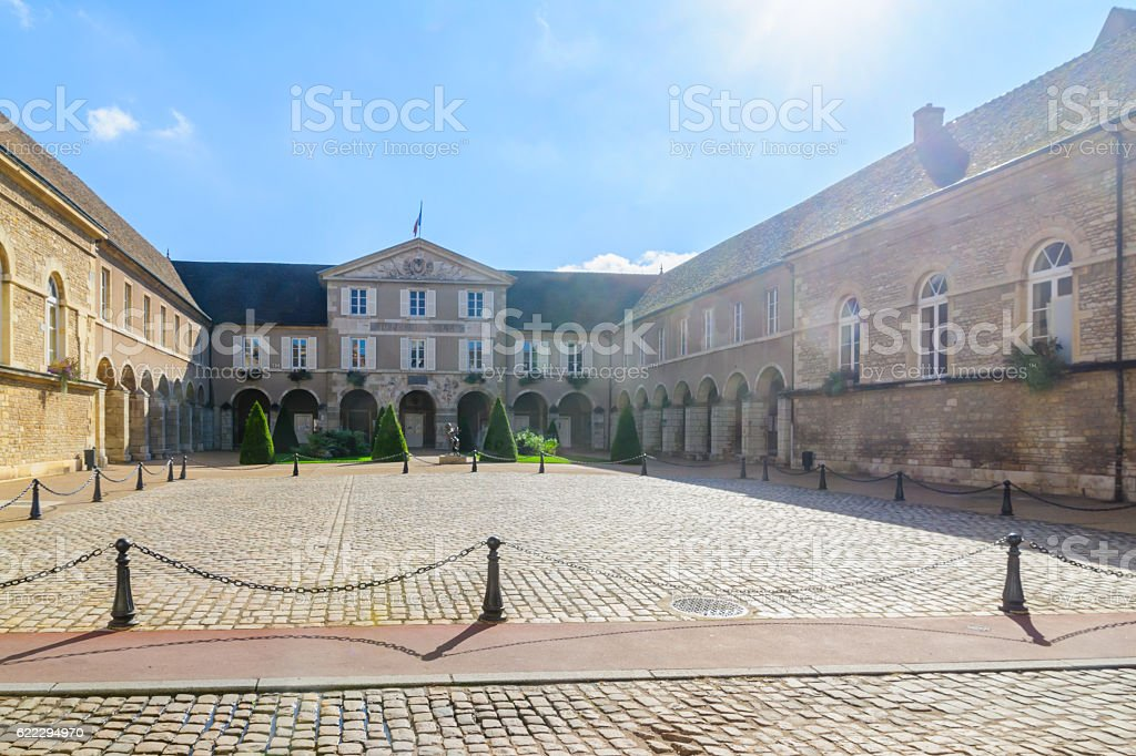 The town hall (hotel de ville), in Beaune stock photo