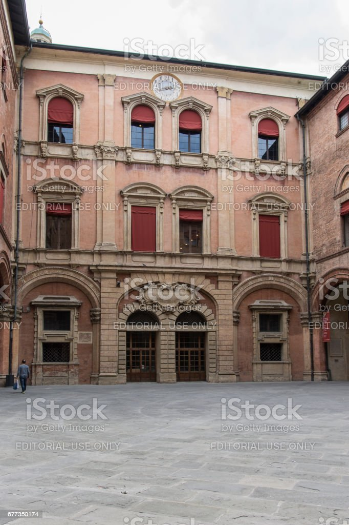 The town hall in Bologna stock photo