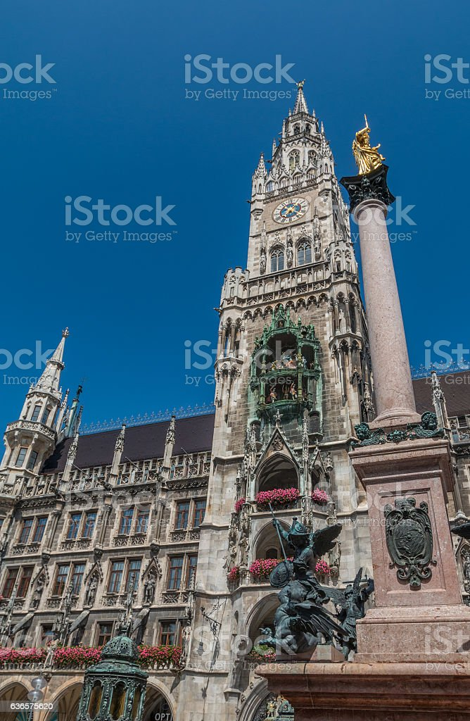 The town hall of Munich stock photo