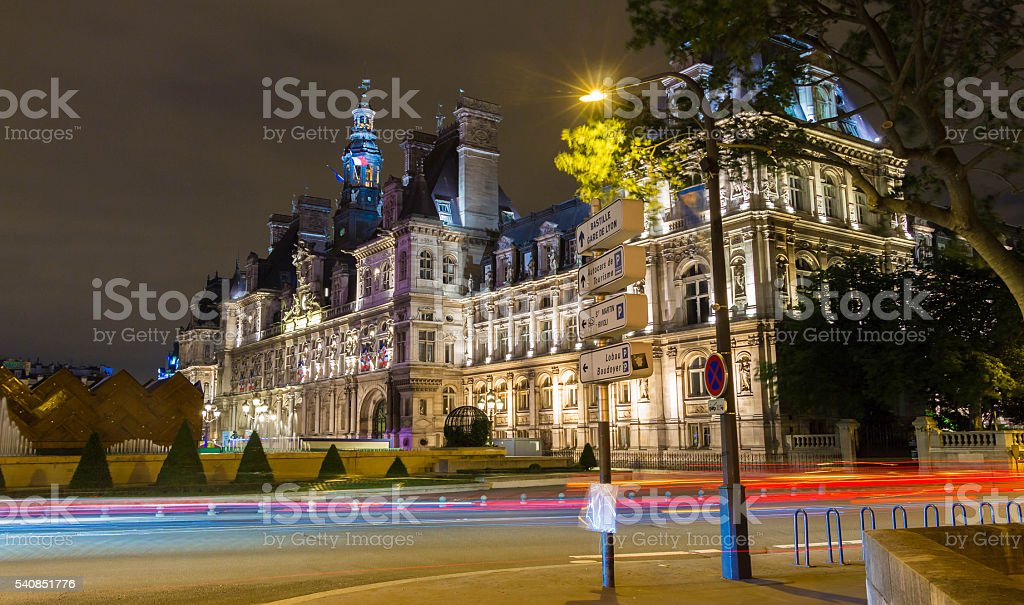 The town hall of Paris, France. stock photo
