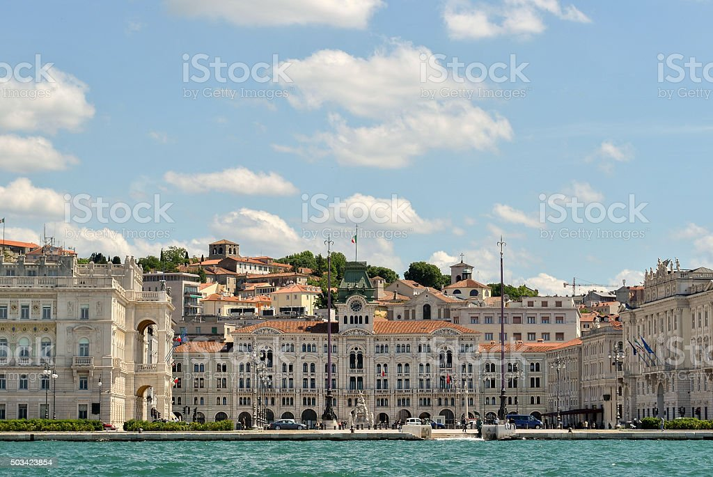 The town hall of Trieste stock photo
