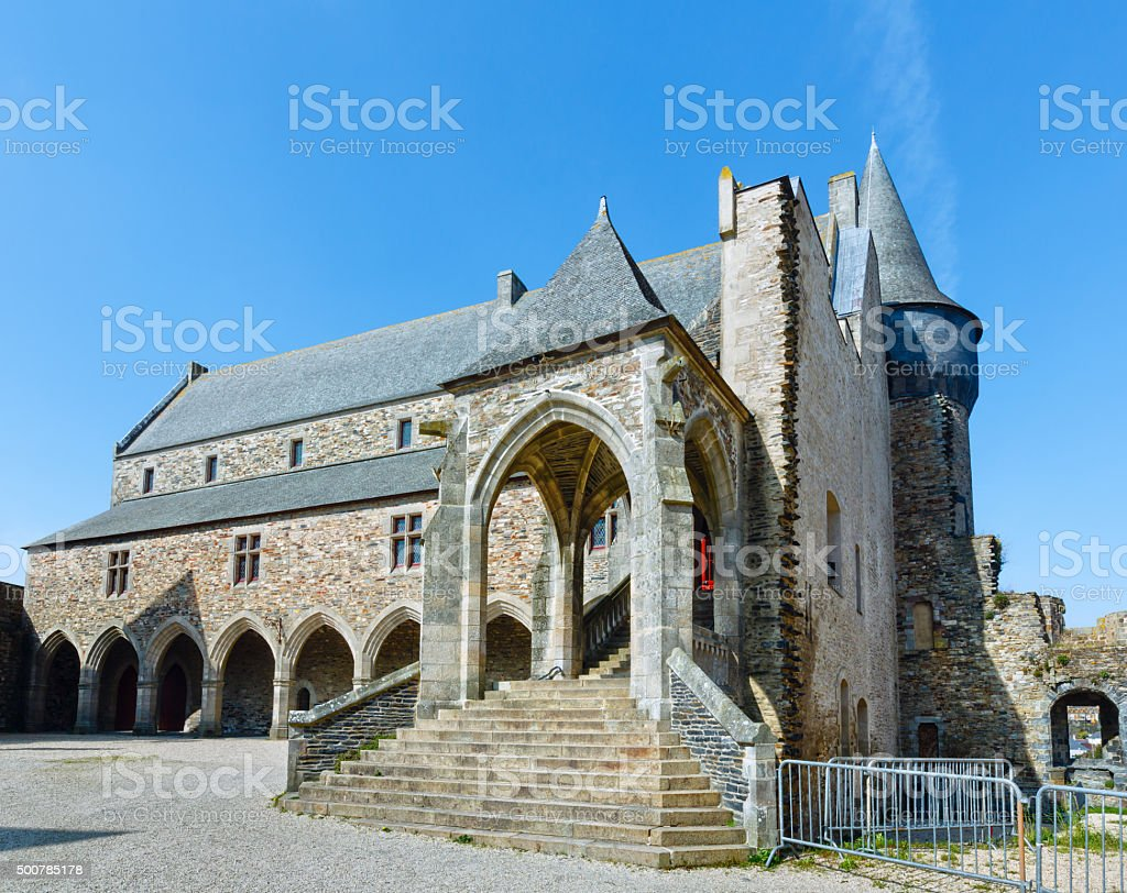 The town hall of Vitre, France. stock photo