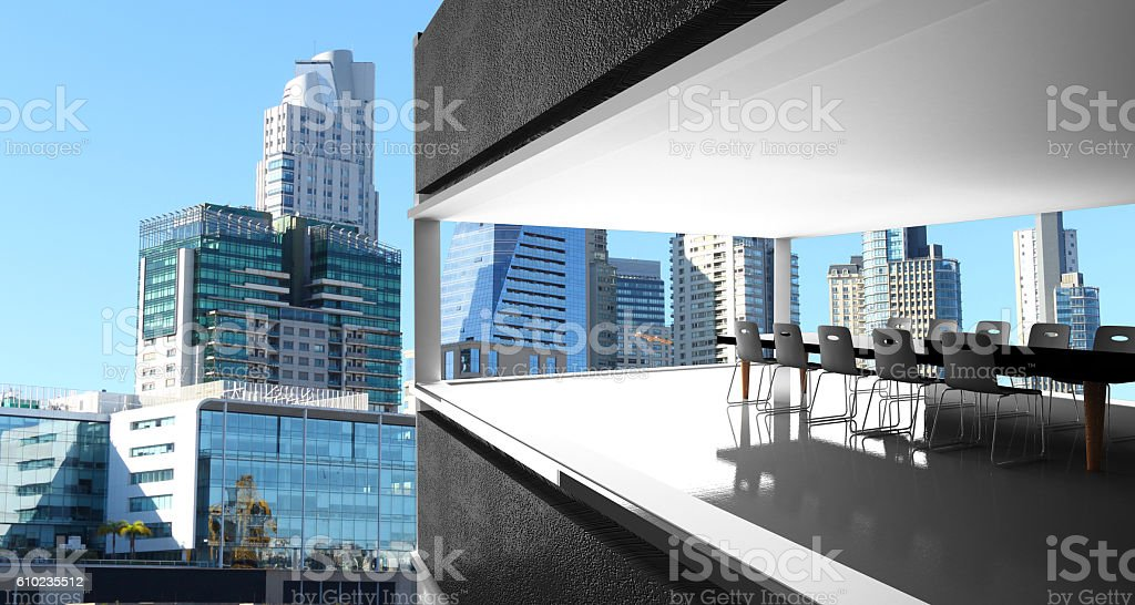 the town of Buenos Aires Argentina stock photo