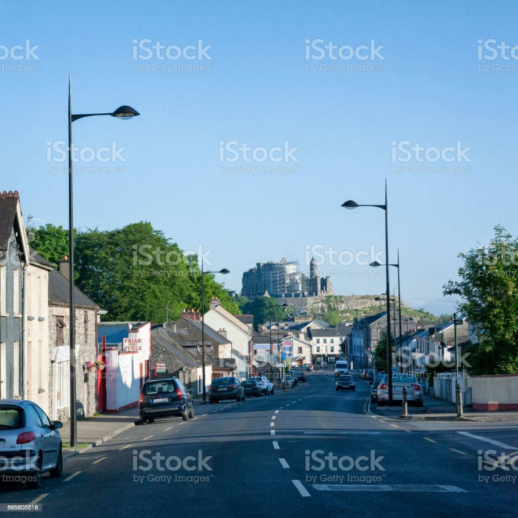 The town of Cashel in County Tipperary, Ireland stock photo