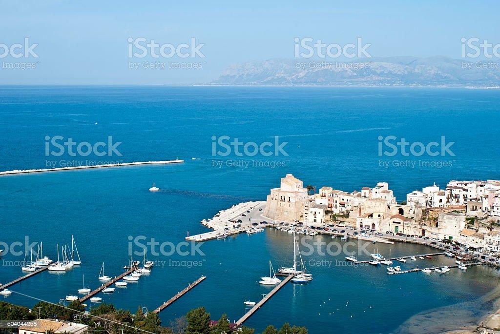 The town of Castellammare del Golfo stock photo