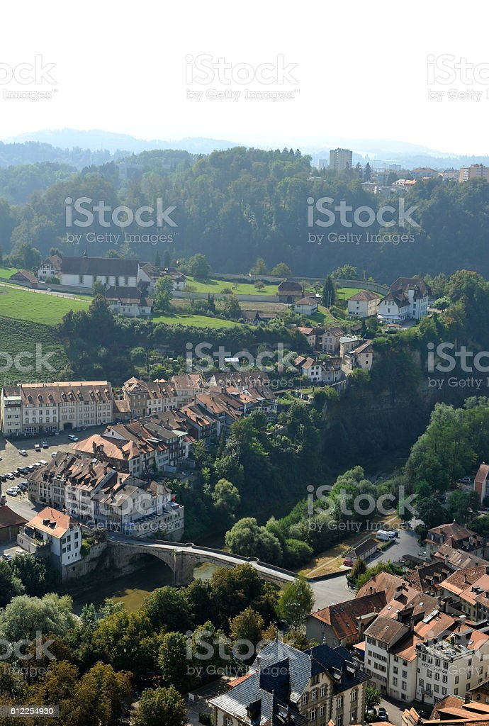 The town of Fribourg - Switzerland stock photo