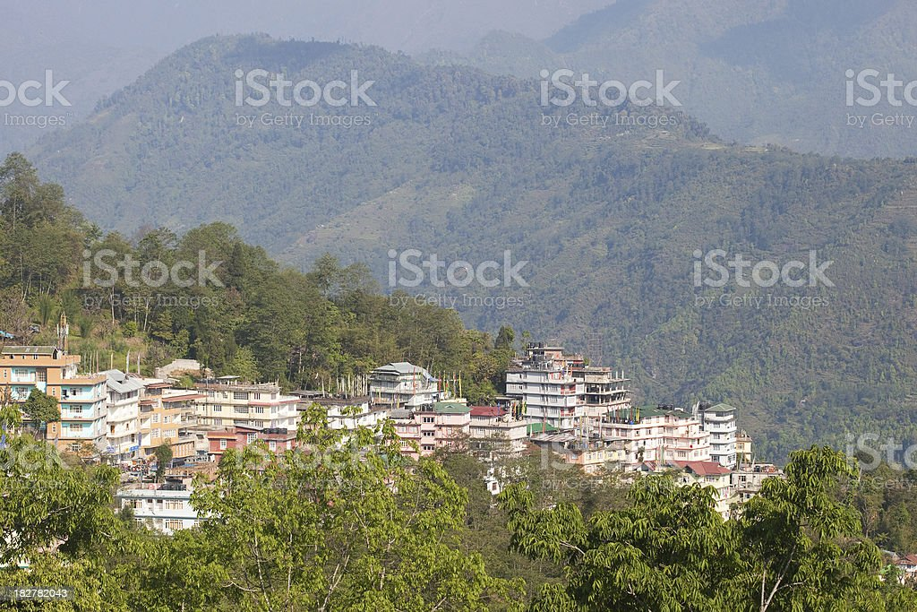 The Town Of Pelling In Sikkim, India stock photo