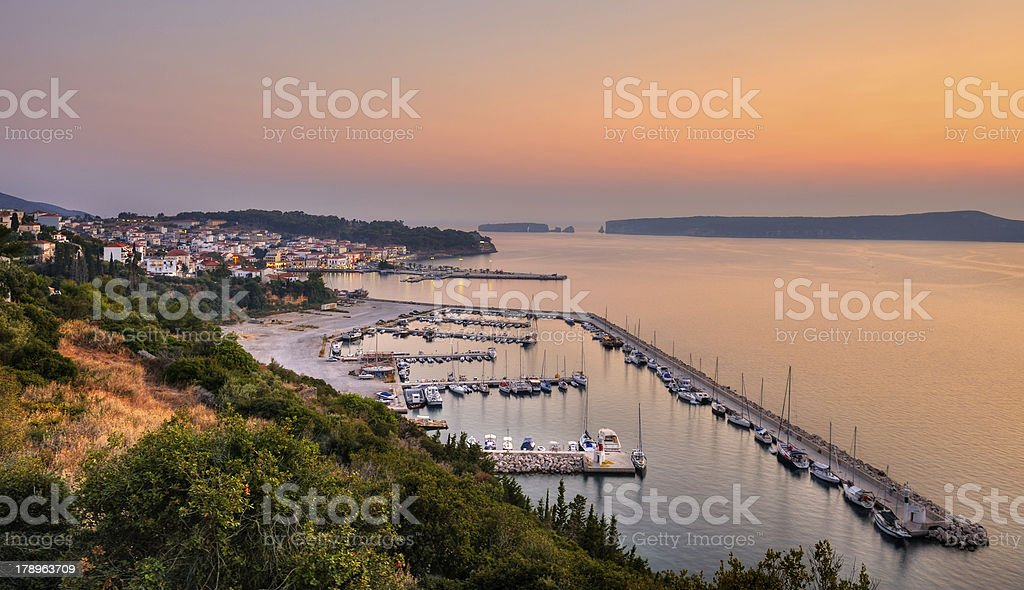 The town of Pylos, Greece royalty-free stock photo
