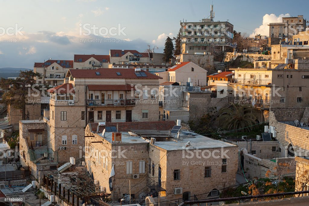 The town of Safed stock photo
