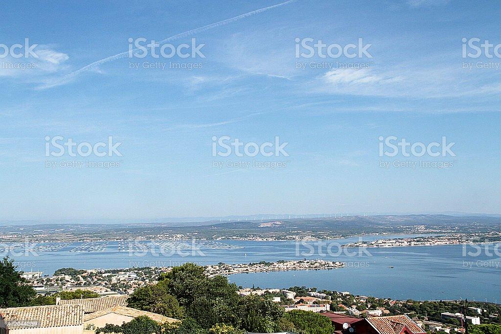 La città di Sète, Francia foto stock royalty-free