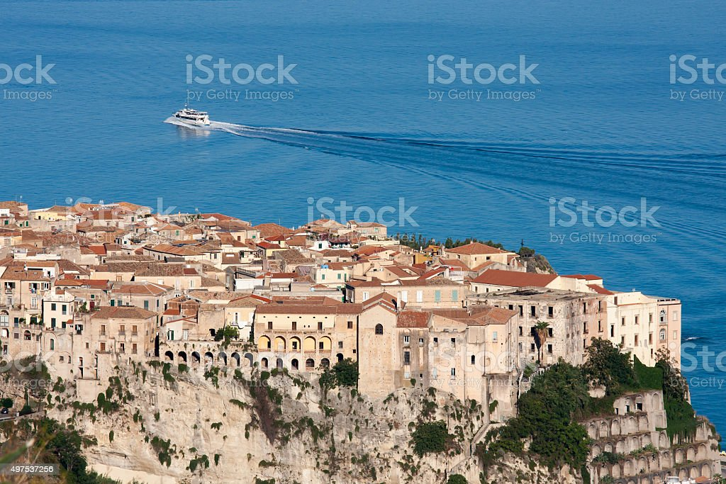 The town of Tropea stock photo