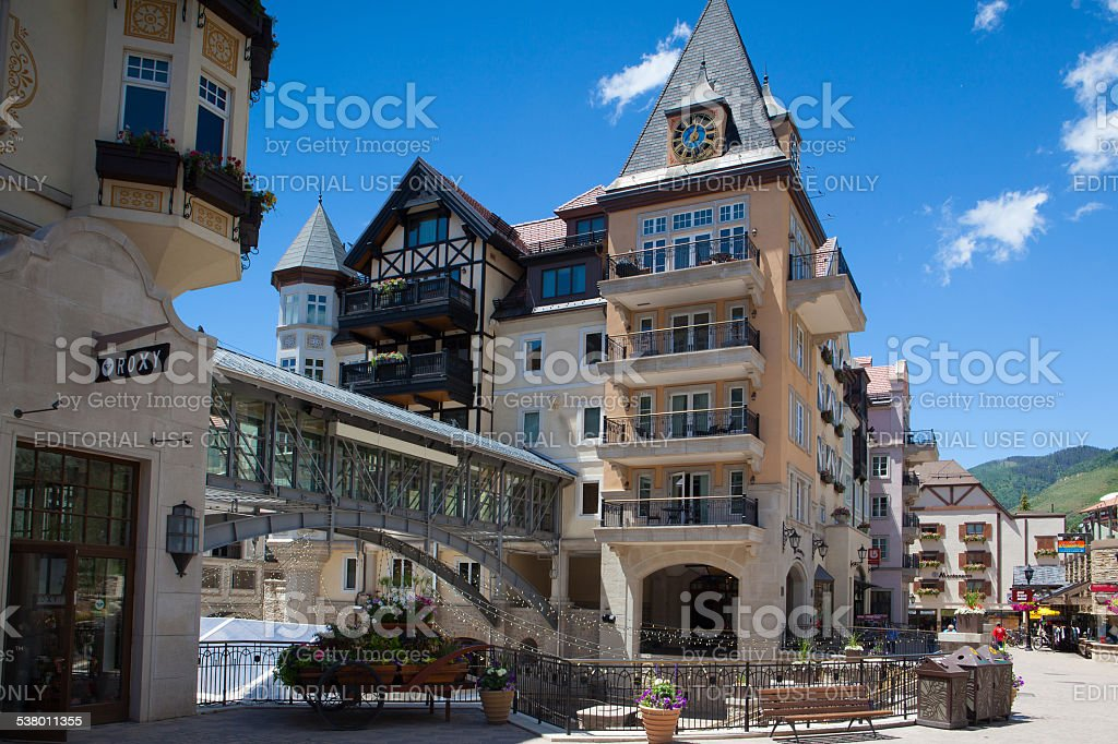 The Town of Vail stock photo
