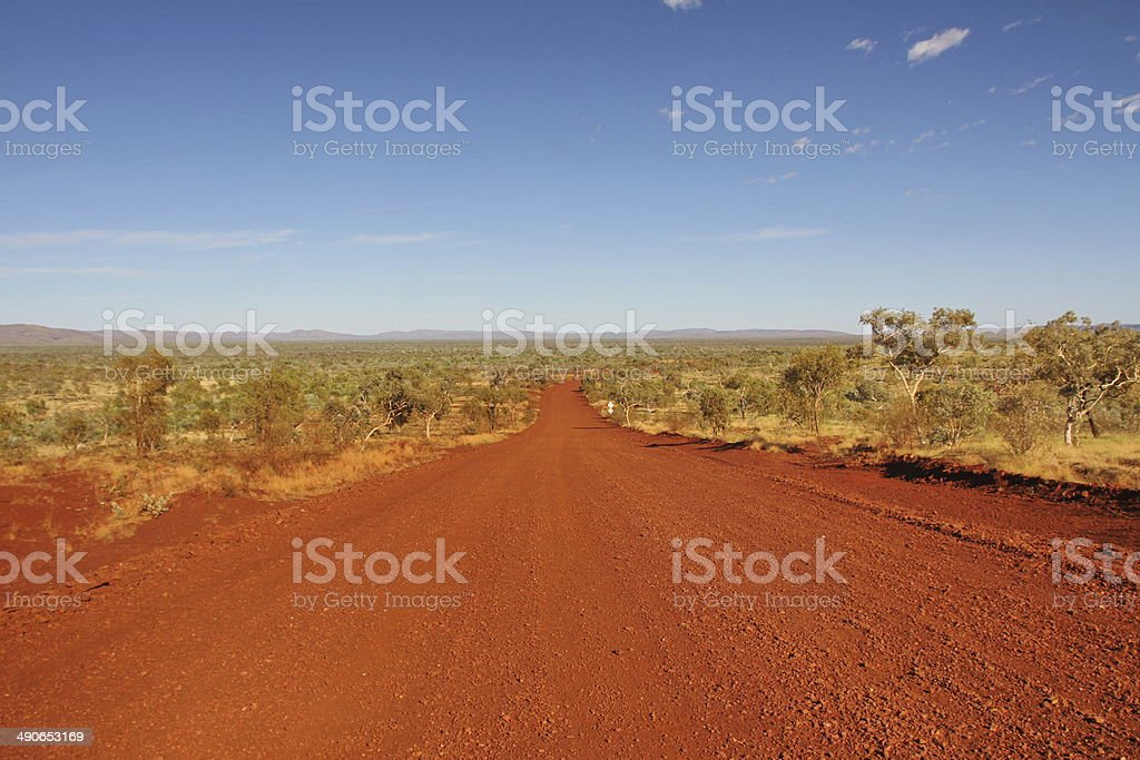 The track in Karijini National Park, Western Australia stock photo