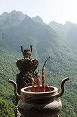 The traditional bowl-incense burner