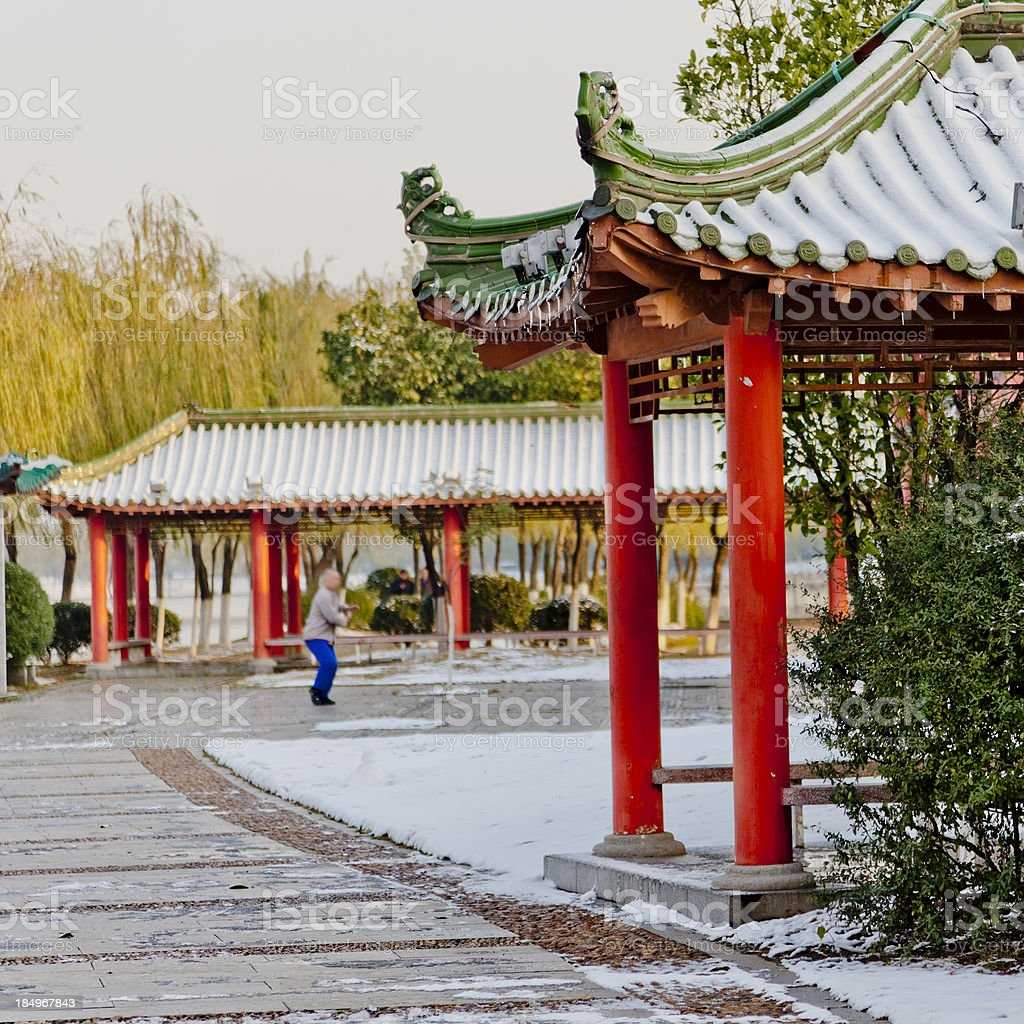 The traditional Chinese ancient buildings royalty-free stock photo