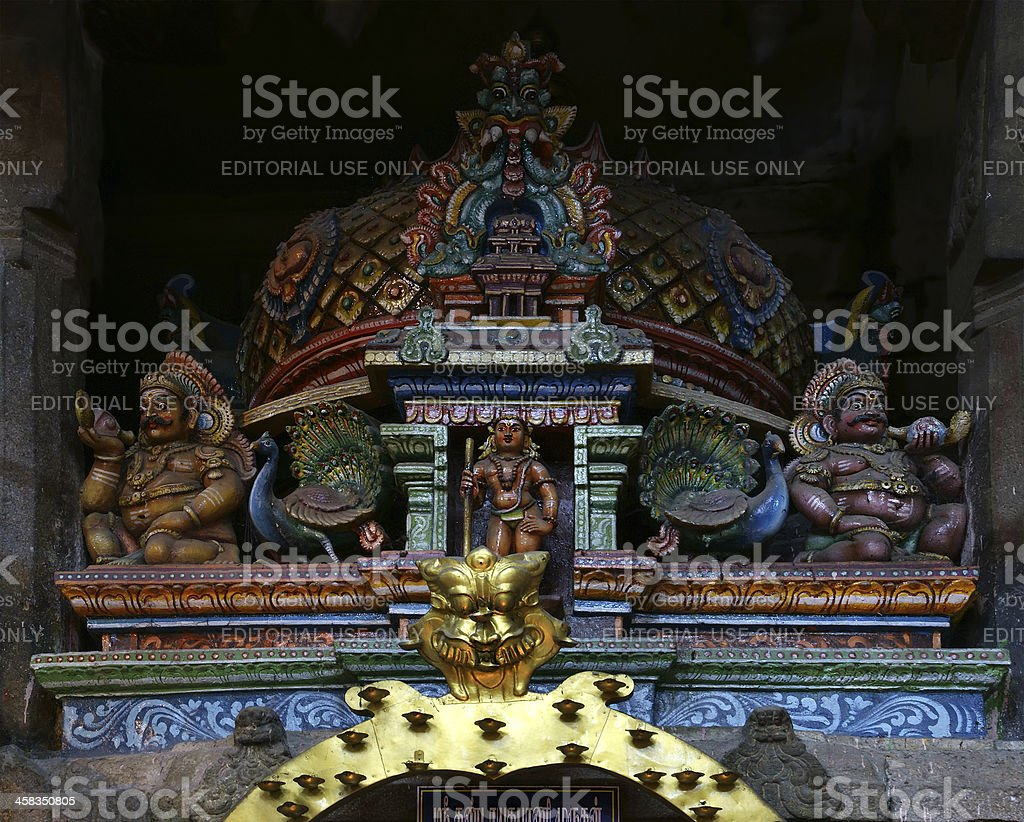The traditional Hindu religion sculpture stock photo
