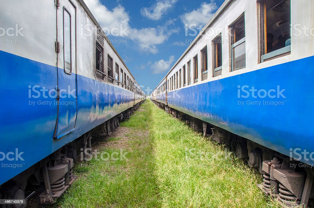 The trains of Trang stock photo