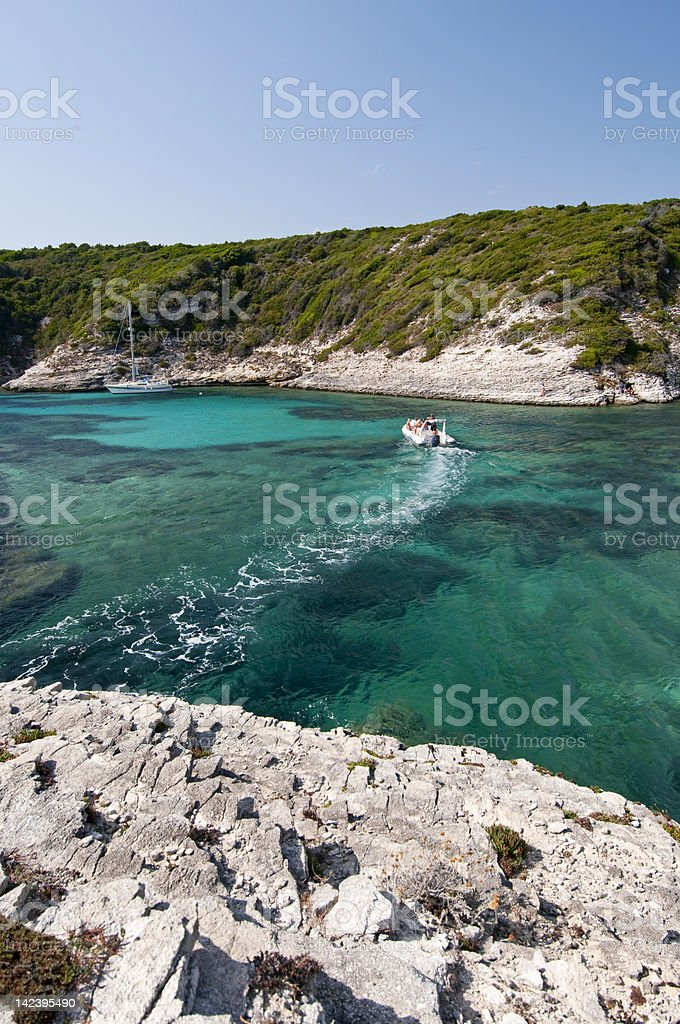 The transparent sea of Bonifacio, Corsica, France royalty-free stock photo