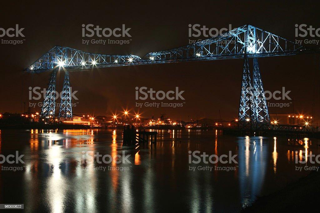 the transporter bridge stock photo