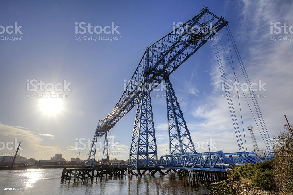The Transporter Bridge, Teesside royalty-free stock photo