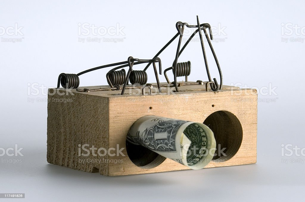The trap royalty-free stock photo