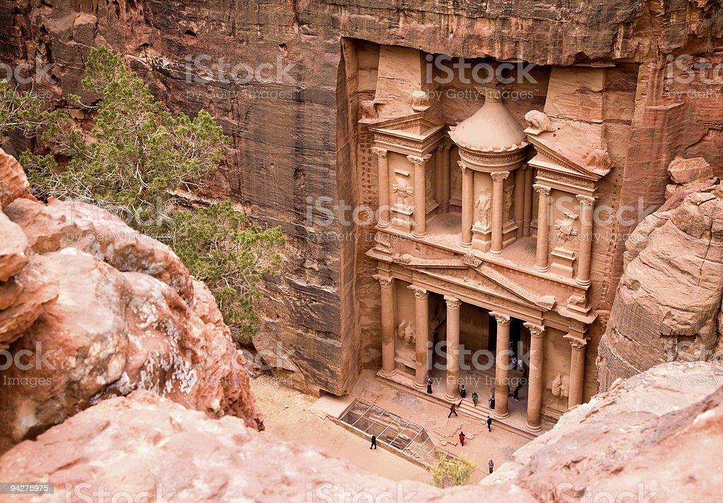 The Treasury. Ancient city of Petra, Jordan stock photo