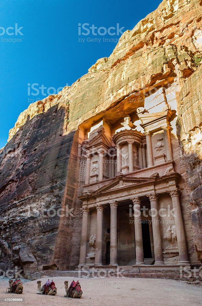 The Treasury at Petra, Jordan stock photo