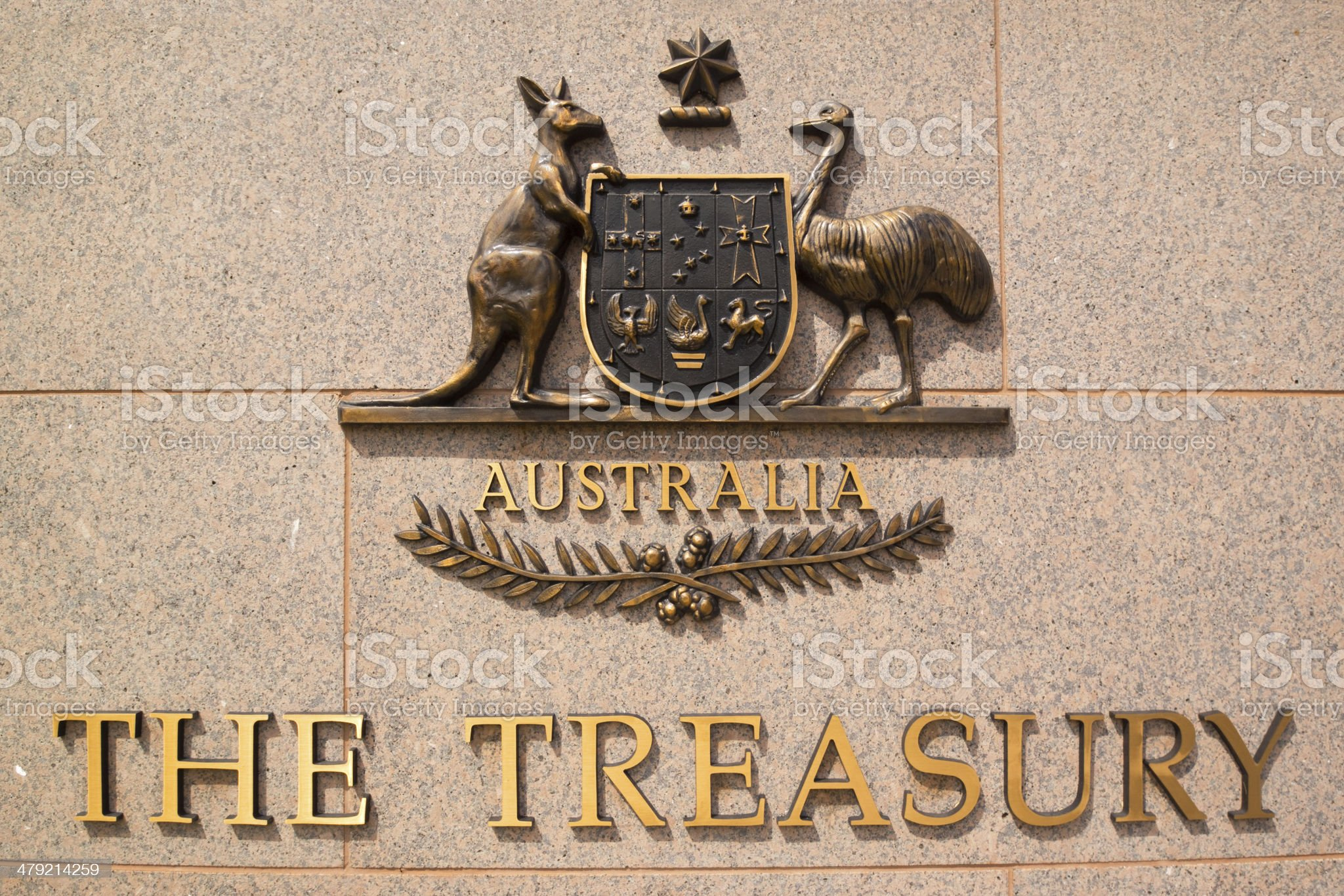 The Treasury, Australia royalty-free stock photo