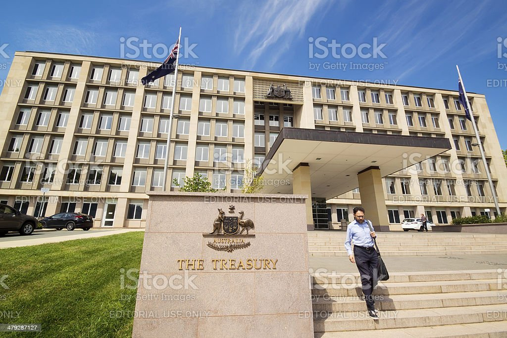 The Treasury, Australia stock photo
