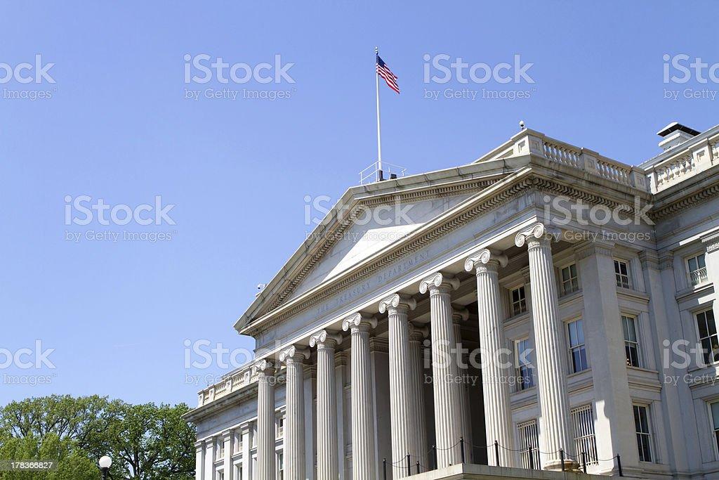 The Treasury Department Building stock photo