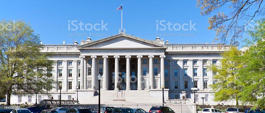 The Treasury Department Building, Washington DC royalty-free stock photo