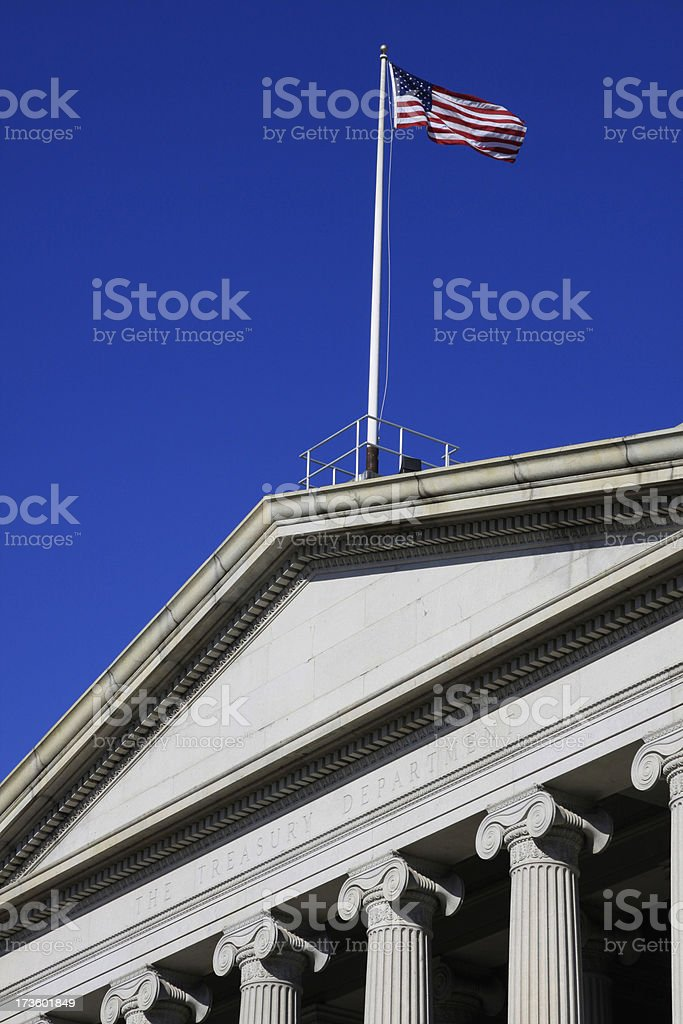 The treasury department royalty-free stock photo