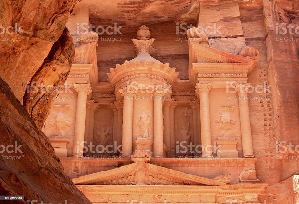 'The Treasury, (Al Khazneh in Arabic), Petra, Jordan' stock photo