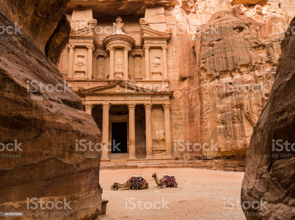 The Treasury (Kasneh) - Petra, Jordan stock photo