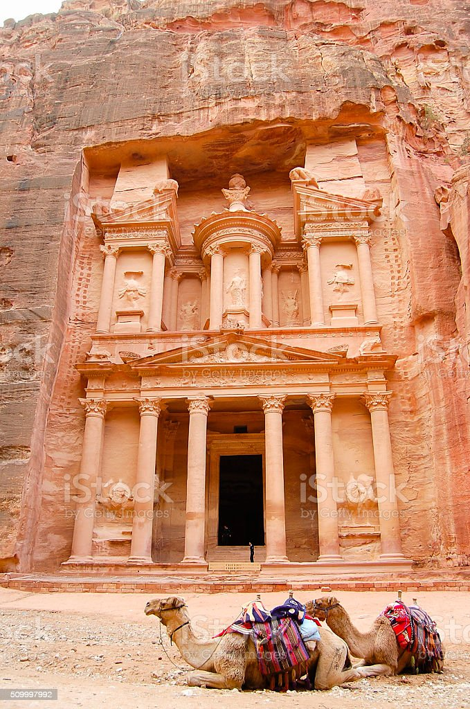 The Treasury - Petra - Jordan stock photo