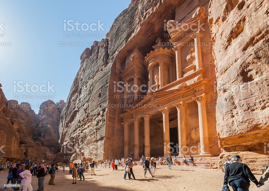 The Treasury. Petra. Jordan stock photo